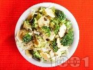 Салата с китайско зеле, броколи и тиквички